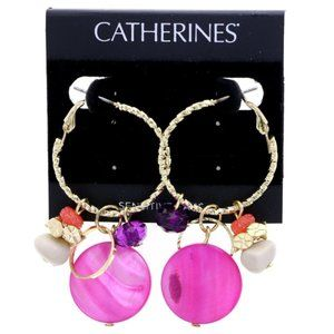 3/$20 Catherines festive gold and pink dangles